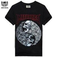 Rocksir Tee Men T Shirt 3D T Shirt 100 Cotton Metallica Skull Print Heavy Metal
