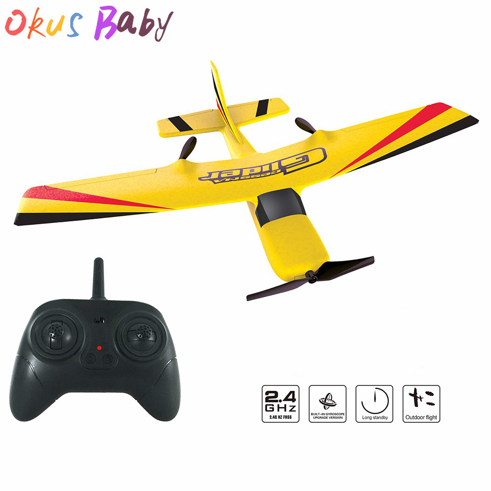 Newest RC Plane EPP Foam Glider Airplane Gyro 2 4G 2CH RTF Remote Control  Wingspan Aircraft Funny Boys Airplanes Interesting Toy