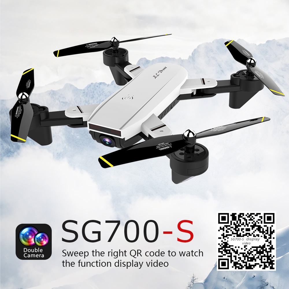SG700-S <font><b>Mini</b></font> <font><b>Drone</b></font> WiFi <font><b>FPV</b></font> RC Helicopter Foldable Selfie RC <font><b>Drones</b></font> with Camera HD Altitude Hold Quadcopter image