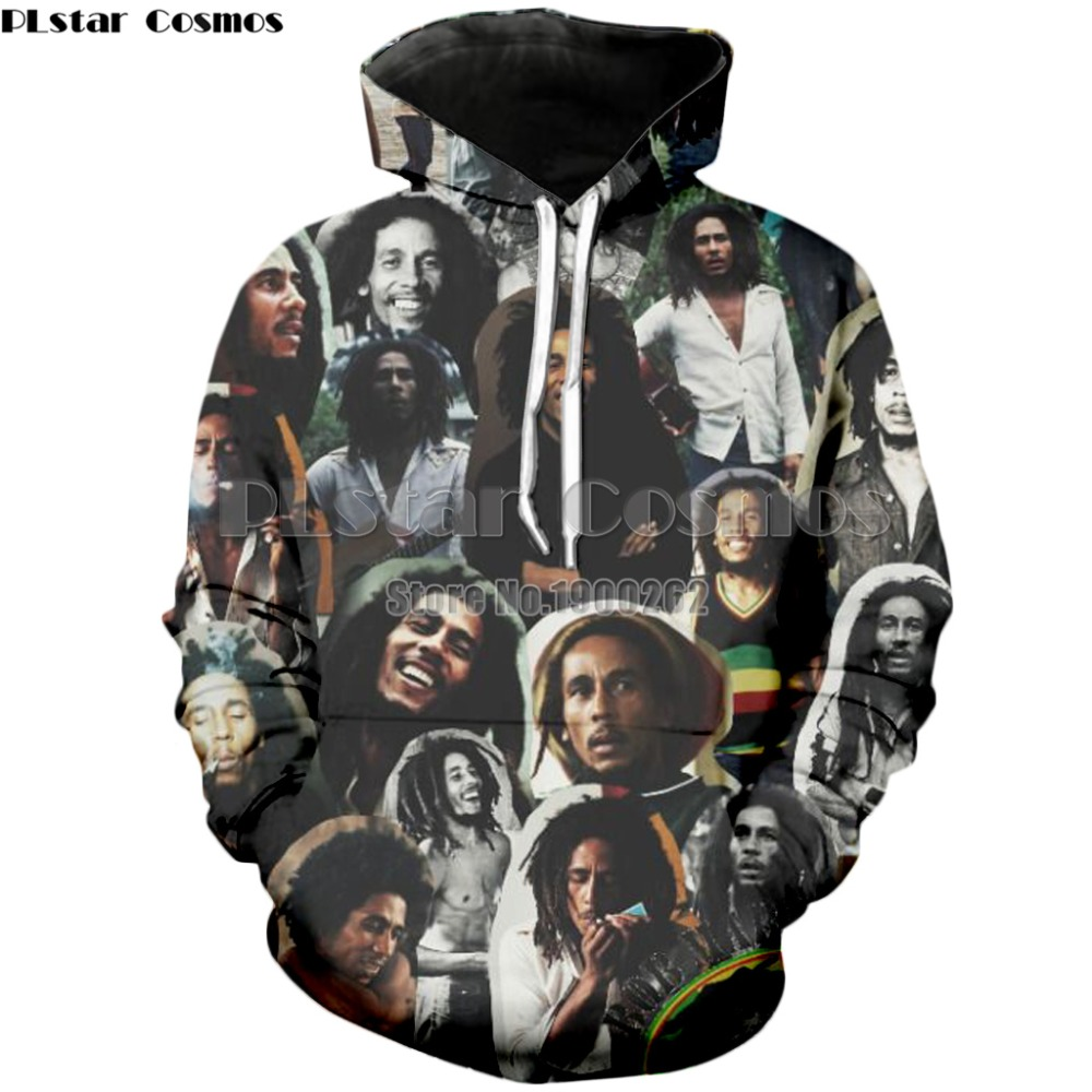 32c32c921bf7a US $8.76 36% OFF|PLstar Cosmos Bob Marley 3D Reggae Star Printed Hoody  Hoodie Custom Made Clothing Men/Women Streetwear-in Hoodies & Sweatshirts  from ...