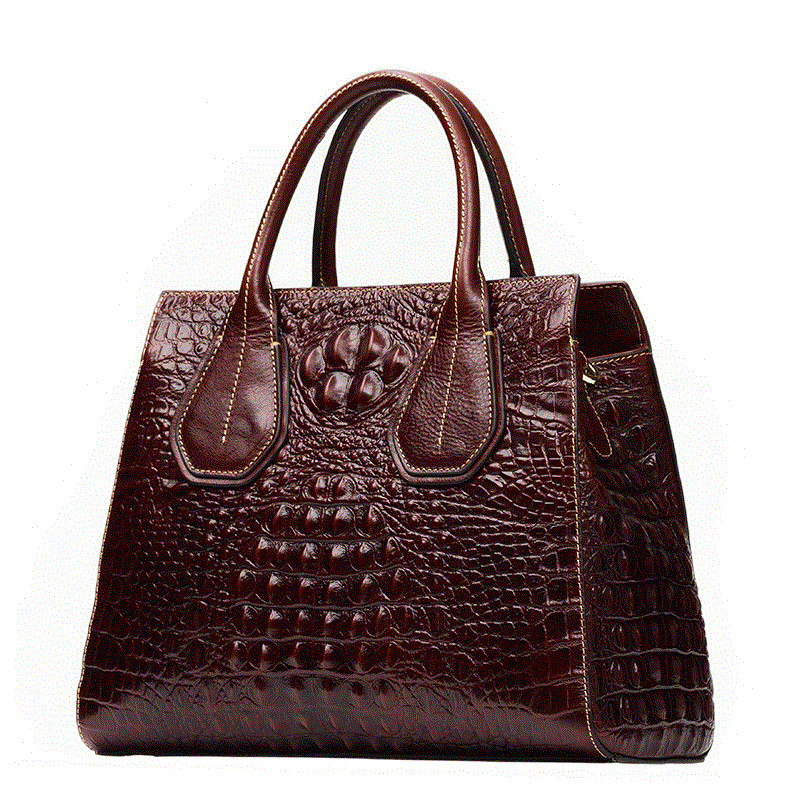 Luxury Fashion Crocodile Pattern Women Bag\Handbag Genuine Leather Tote Cowhide ladies' Casual Shoulder Bag Messenger Bag Big luxury genuine leather bag fashion brand designer women handbag cowhide leather shoulder composite bag casual totes