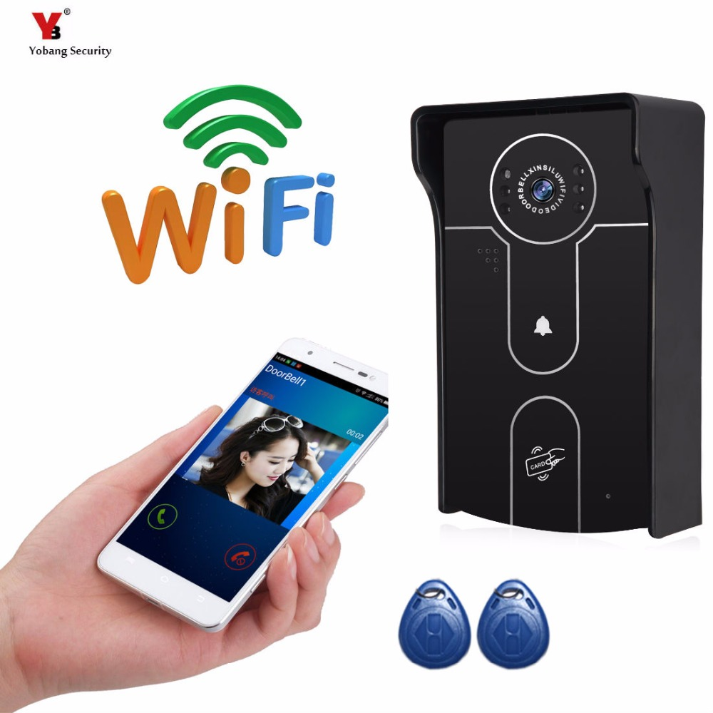 Yobang Security Freeship 720P WIFI Wireless Video Doorphone Camera  Motion Detection Alarm WIFI Doorbell for IOS Android Phone детская игрушка new wifi ios