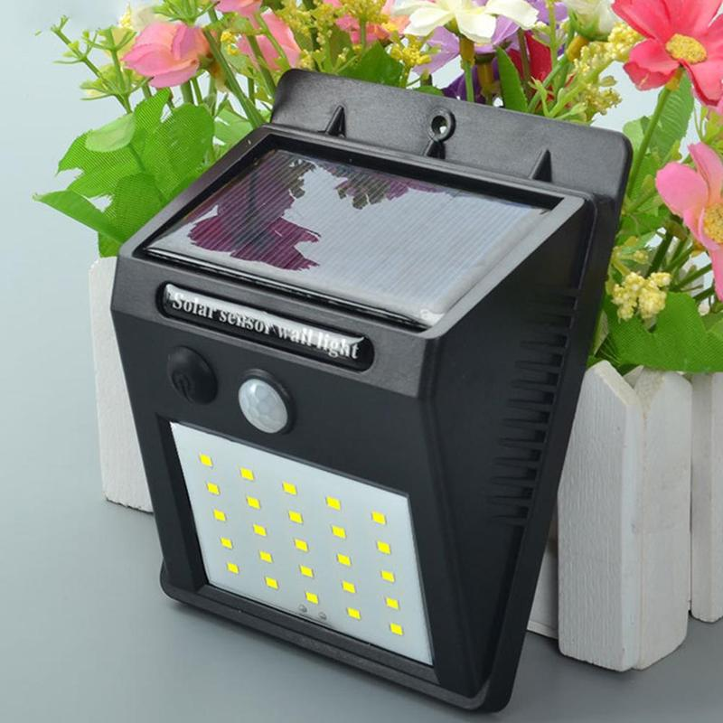 Night Light Solar Powered 25/20 LED Wall Lamp PIR Motion Sensor & Night Sensor Control Solar Light garden outdoor lighting