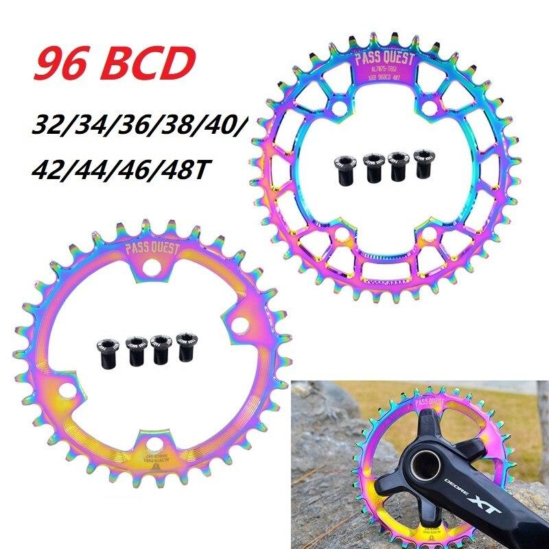 MTB Mountain Bike Chain Wheel 96 BCD 32/34/36/38/40/42/44/48 Teeth Chainring Titanizing For shimano XTL M9000 XT M8000 SLX M7000-in Bicycle Crank & Chainwheel from Sports & Entertainment    1