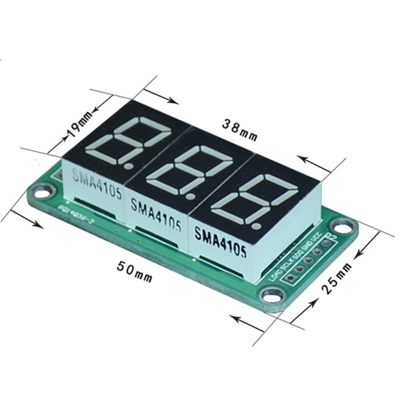 2PCS 74HC595 2-segment digital tube display 0.5 inch 2-digit highlight red