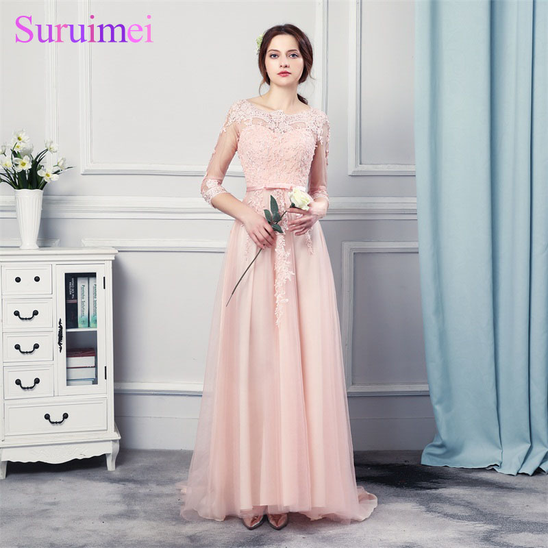 Real Photos Lovely Coral Pink Formal Evening Dresses 2018