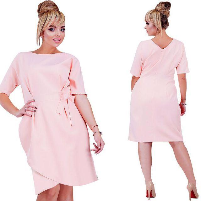 Fashion Big Size Dresses for Women Irregular Candy Color Jurken Plus Size  Women Clothing Fat MM d6325e2618a6