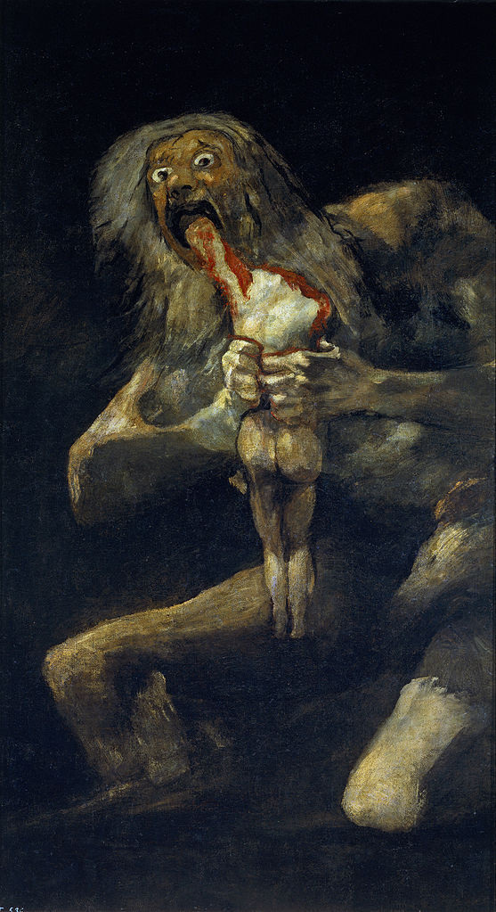 """Wholesale art oil painting    francisco de goya work replica  36"""" inch canvas  Saturn Devouring His Son painting on canvas-in Plaques & Signs from Home & Garden    1"""