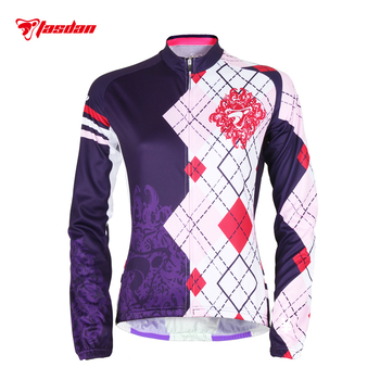 Tasdan Cycling Wear Cycling Clothes Cycling Jersey Women Long Sleeve Jerseys Quick Dry Bike Bicycle Jersey Cycle Clothing