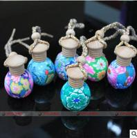 50pcs Polymer clay perfume essential oil bottles the car perfume bottle hang hang act the role ofing tourism souvenir