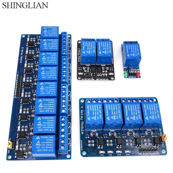 5V,12V 1 2 4 8 Channel Relay Module With Optocoupler .Relay Output 1 2 4 8 Way Relay Module High Low Level Expansion Board