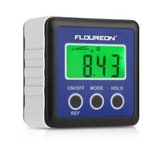 Floureon Kỹ Thuật Số Protractor Inclinometer DL134 Chống Nước Vát Hộp Đồng Hồ Đo LCD Xanh Đèn Nền Hiển Thị Góc Tìm Protractor