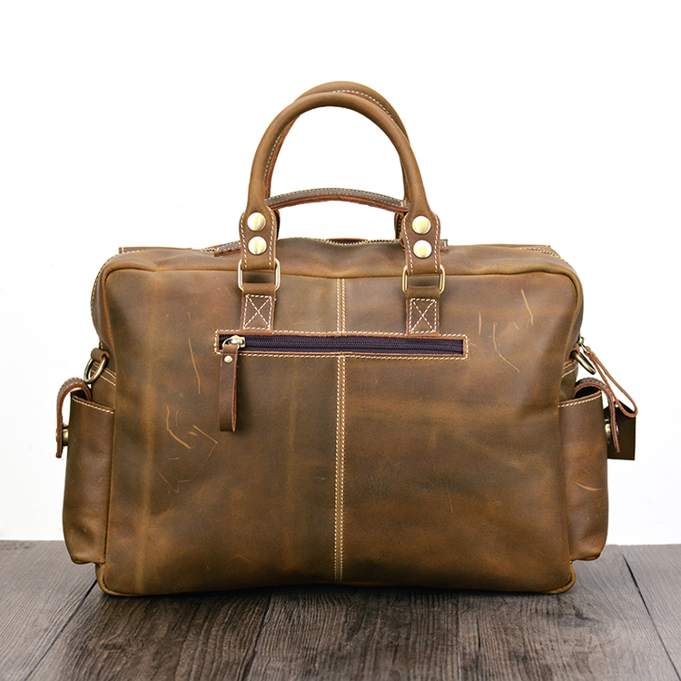 Mans Strap Yellow Tasche 2019 Hand Mit Aktentasche Natürliche Männer Business Aktentaschen Laptop Notebook Brown Maheu Schulter Neue Leder Mode TqPO08