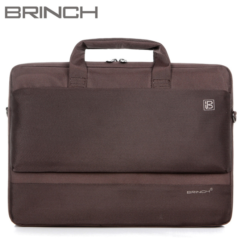 Brinch 15 15.6 Inch Nylon Computer Laptop Solid Notebook Tablet Briefcase Bag Bags Case sleeve Messenger Shoulder for Men Women 13 14 15 17inch big size nylon computer laptop solid notebook tablet bag bags case messenger shoulder unisex men women durable