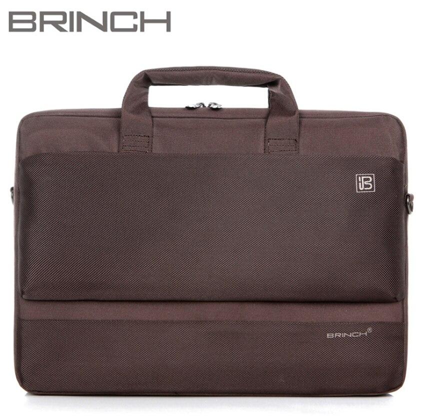 Brinch 15 15.6 pouces en Nylon ordinateur portable solide ordinateur portable étui de tablette sac sacs housse Messenger épaule pour hommes femmes