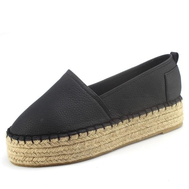 2016 Nuevas mujeres Pisos Alpargatas de Plataforma Zapatos de Plataforma Zapatos Casuales de Las Mujeres Alpargatas