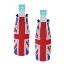 2pcs Beer Bottle Freezer Bag UK Flag Pattern Wine Bottle Cooler Sleeve Holder Ice Bag  Beer Cooling Carrier Portable Party Favor