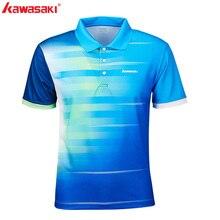 Оригинальные Kawasaki мужские рубашки поло с коротким рукавом быстросохнущие полиэстер мужские футболки для настольного тенниса Спортивная одежда ST-S1102