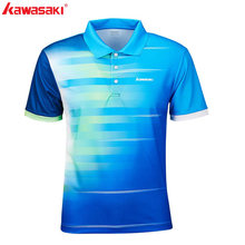 2019 Original Kawasaki Men Polo Shirts Short Sleeve Quick Dry Polyester Men Table Tennis T-Shirt Sports Clothing ST-S1102(China)