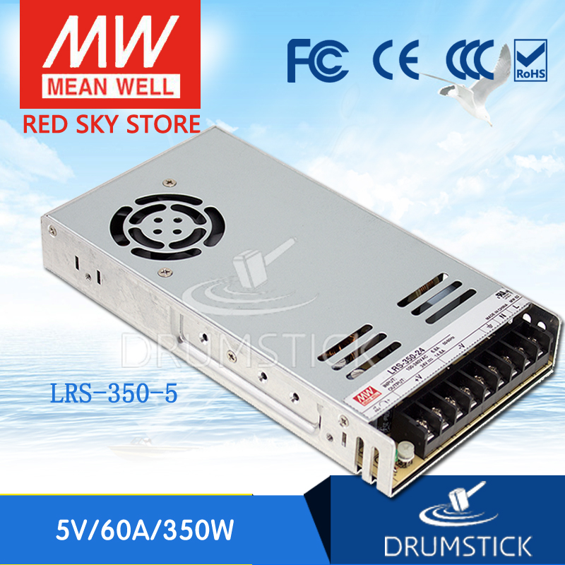 цена на (Only 11.11)MEAN WELL LRS-350-5 (2Pcs) 5V 60A meanwell LRS-350 5V 300W Single Output Switching Power Supply