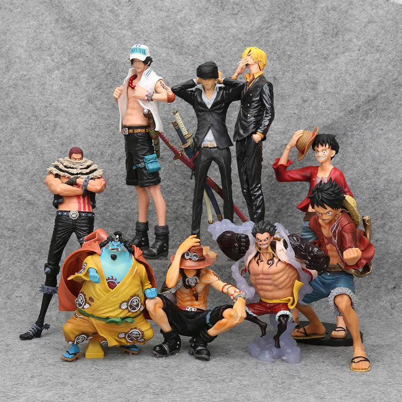 Figura de acción de One Piece, Monkey D Luffy, rey del artista, Roronoa Zoro, Sanji Ace, brinquedos, KOA, figuras en miniatura de juguete