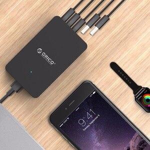 Image 5 - ORICO 5 Porta USB del Caricatore Desktop QC2.0 Caricatore Rapido 5V2.4A 9V2A 12V1.5A per iPhone Samsung Huawei Tablet