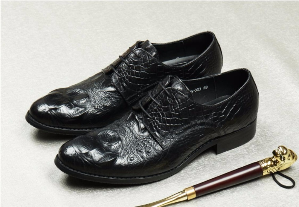 Crocodile Wine Red Mens Dress Oxfords Genuine Leather Men Wedding Party Formal Shoes Oxfords Breathable Lace Up Shoes недорого