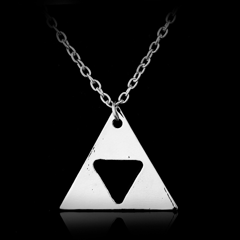 Legend of Zelda Triforce Pebdant Necklace Triangle Necklace Hot Sale Birthday Present Halloween Christmas New Year Gift Anime