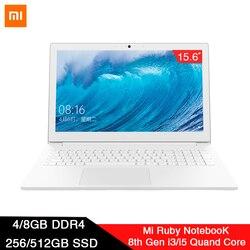 2019 Xiaomi 15.6 cal laptopy 4G/8G RAM DDR4 128G/256G SATA SSD Intel I3 /I5 Quad Core Notebook komputer klawiatura Touchpad PC 1