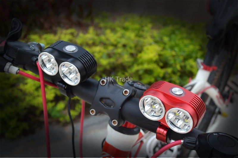 A60 Led Bike Light 10000 Lumens 6 x Cree XM-L T6 Bicycle Front Light 6T6 Cycling Lamp flashlight + Battery Pack + Charger 5000 lumens 2x cree xm l u2 led cycling bike bicycle light head front light with 4x18650 battery pack and charger