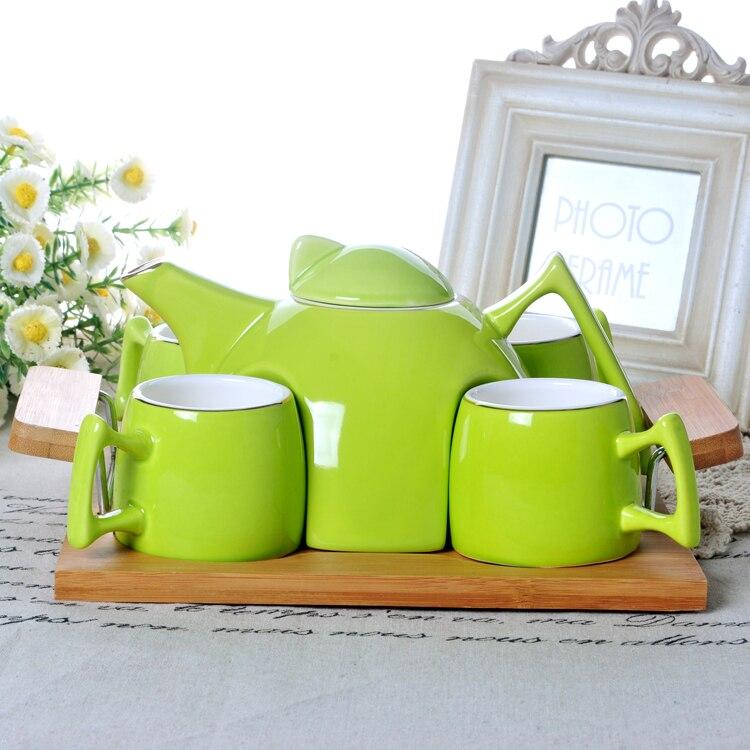 Набор для кофе и чая бутылки для воды Европейский керамический чайник для холодной воды креативный домашний фарфоровый чайник - 5