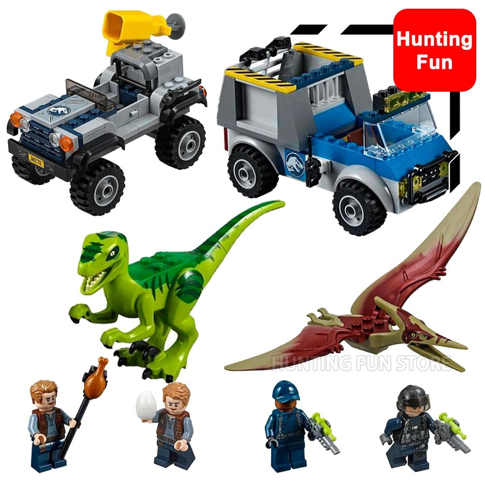LEGO Playset For Children Jurassic World Building Pteranodon Chase Dinosaur Toy