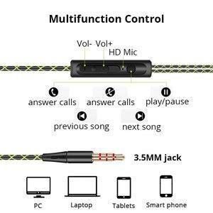 Image 5 - 3.5mm 귀에 매달려 스포츠 이어폰 1.25 m 귀고리 유선 헤드폰 아이폰에 대 한 스마트 폰 in ear 방수 헤드셋 마이크