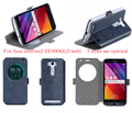 Телефон случаях для Asus Zenfone 2 Laser Случае Песчано-как Смарт Вид из Окна Кожаный Чехол для Asus Zenfone 2 Laser ZE500KL (5.0 дюймов)