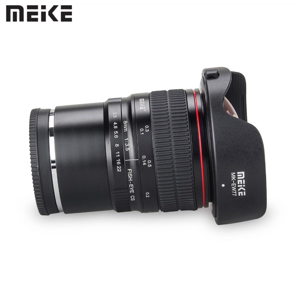 Objectif Meike 8mm f/3.5 objectif Fisheye grand Angle pour Sony A6000 Alpha et Nex caméra sans miroir e-mount avec APS-C