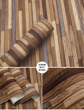 New Industrial Style Retro Chinese Classical Woodgrain Wallpaper 3D Stereo Hairdressing Clothing Store Bar Background Plank Wall