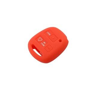Image 4 - Okeytech 실리콘 자동차 키 커버 쉘 포브 도요타 avensis 캄리 corolla rav 원격 키 케이스 2 + 1 버튼 렉서스 키 케이스에 적합