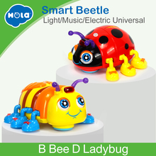 HUILE TOYS 82721 Baby Toys Infant Crawl Beetle Electric Toy Bee Ladybug with Music & Light Learning Toys for Children Xmas Gifts