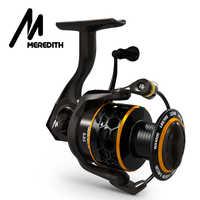 MEREDITH DAFNE KEEN Spinning Reel Triple Disc Carbon Drag 5.2:1 2000 3000 4000 12KG Max Drag Power Fishing Reel Bass Fishing