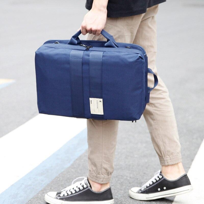 D-park 15,6 дюймов чехол для ноутбука путешествия емкость рюкзак мужской багаж сумка на плечо Компьютерные рюкзаки мужские функциональные мног...