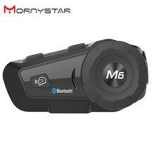 M6 Plus 1000m Motorrad Bluetooth Helm Intercom Headset MP3 FM für Siri Befehl Freisprecheinrichtung BT Sprech für Volle Gesicht helm