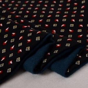 Image 5 - [Bysifa] homem negócios preto lenço de seda engrossar outono inverno masculino 100% natural seda longo cachecóis cravats pescoço cachecol gravata 165*24cm