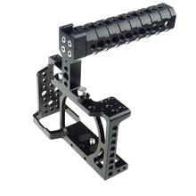 ACCSTORE DSLR Caméra Cage avec Top Poignée pour Sony A6000/A6300/A6500/ILCE-6000/ILCE-6300/ILCE-6500/NEX7-502