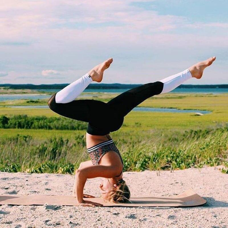 Yel 2017 niñas gimnasio larga pantalones flacos basculador corriendo pantalones de fitness yoga pantalones deportivos de compresión apretado sexy polainas de las mujeres