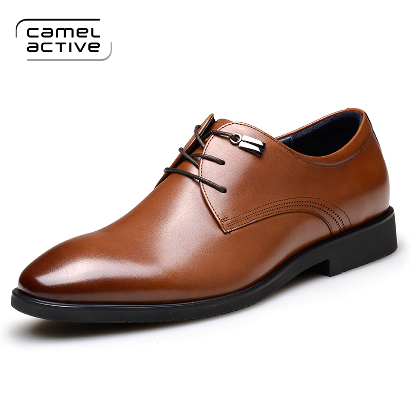 Camel Active Brand Business Genuine Leather Man Casual Shoes Men Adult Quality Spring Autumn Walking Footwear Breathable Shoes vesonal 2017 brand casual male shoes adult men crocodile grain genuine leather spring autumn fashion luxury quality footwear man