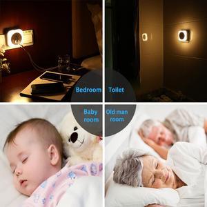 Image 2 - 2 USB Charging Port Induction Home Night Lamp Gift Kids Bedroom Mini Smart Sensor Light Control LED Night Light Baby EU/US Plug