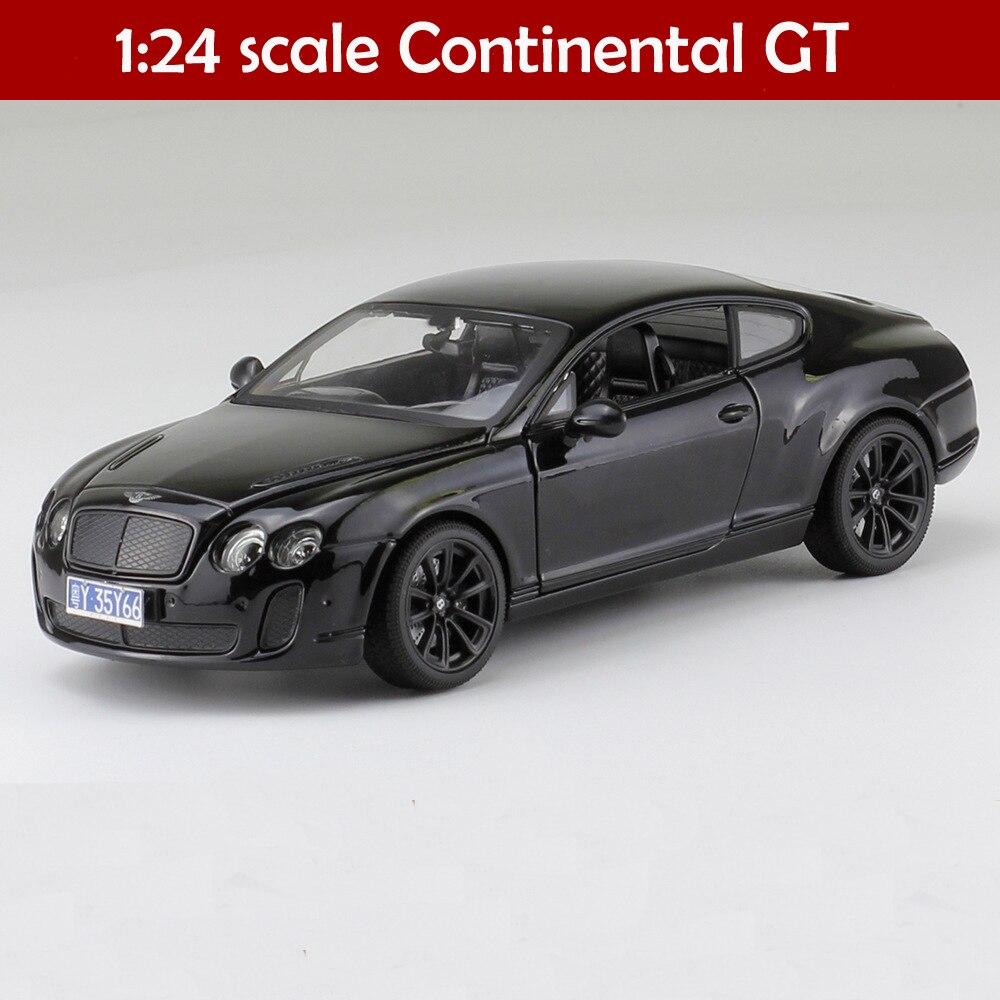 Liga simulado 1:24 bentley continental GT ISR super desportivo Diecasts & Toy Vehicles Coleção Modelo de Carro Brinquedos Do Carro Para as crianças presente