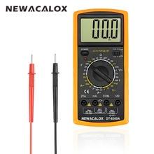 NEWACALOX Repair Tool Digital Multimeter LCD AC DC AMP Automatic Range Multimeter Ammeter Ohmmeter Resistance Capacitance Meter