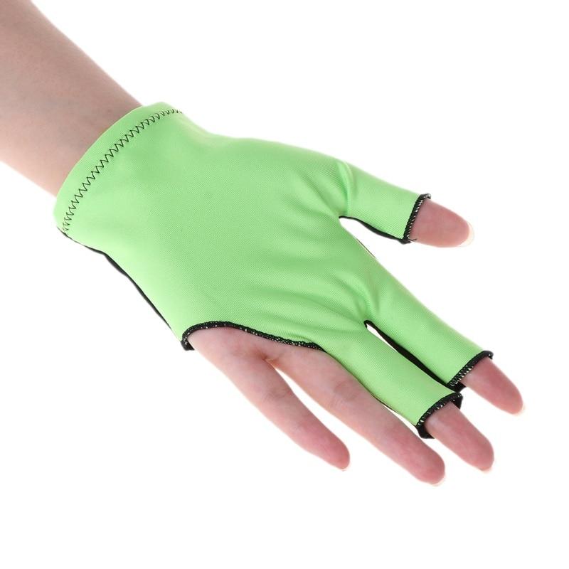 1Pc Lycra Fabric Snooker Gloves Prevent Finger Scratches Billiard Glove Pool Left Hand Open Mitten Billiard Accessories