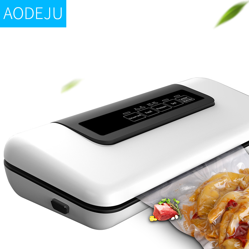 AODEJU Household Vacuum Sealer Packaging Machine Commercial Vacuum Packer With Bags Gift Can Use For  Food Saver
